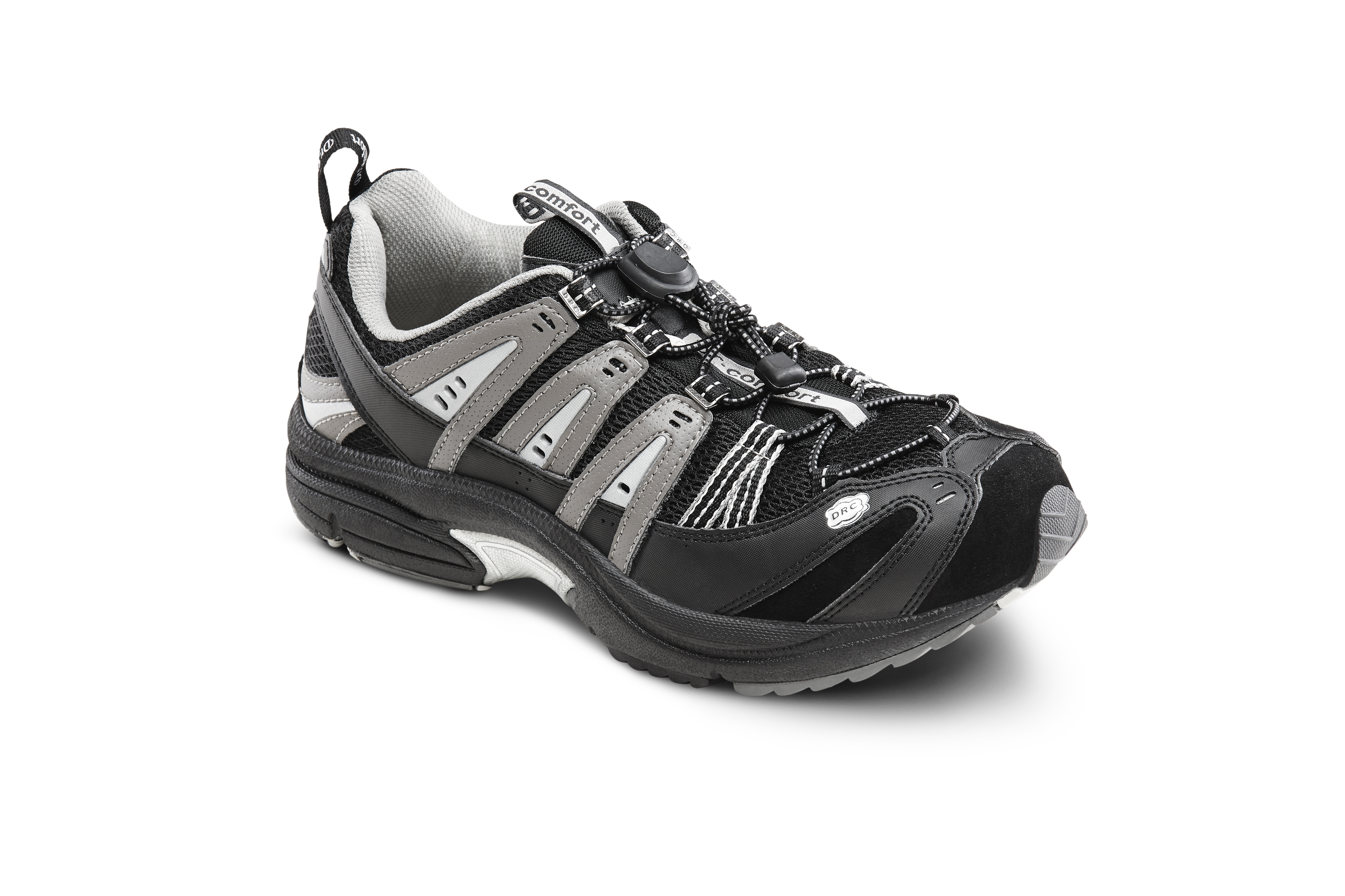 Dr Comfort Men S Performance Black Grey