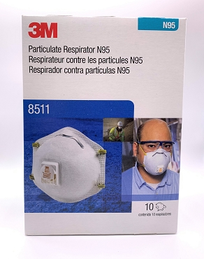 3M™ Particulate Respirator 8511, N95 10 Pack in Stock