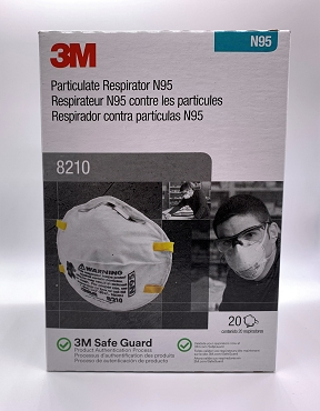3M™ Particulate Respirator 8210, N95 20 Count Box FDA EUA for Healthcare Workers
