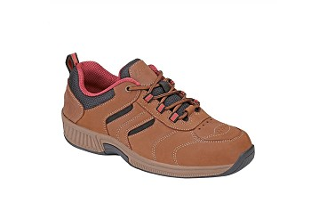 Orthofeet 944 Women's Athletic Shoe Brown Lace