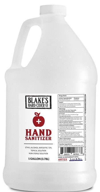 Blake's Hand Sanitizer Gallon Refill